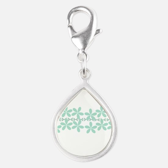 Pastel Floral Mint Green Gardener Florist Charms