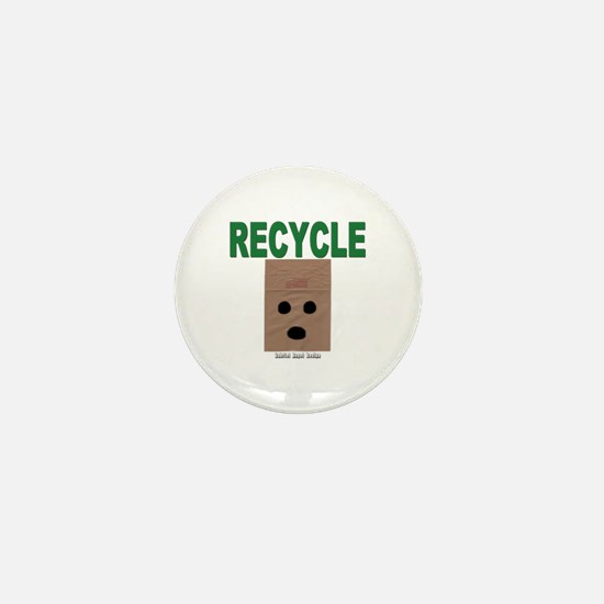 Recycle Paper Bags Mini Button