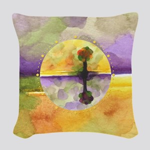 As Above So Below No14 Woven Throw Pillow