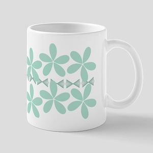 Pastel Floral Mint Green Gardener Florist Mugs