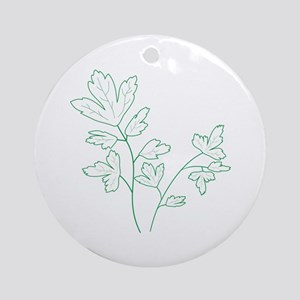 Parsley Herb Plant Ornament (Round)