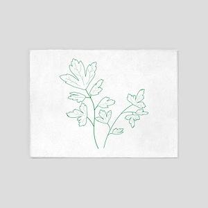 Parsley Herb Plant 5'x7'Area Rug