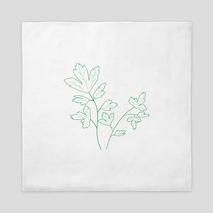 Parsley Herb Plant Queen Duvet