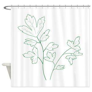 Herb Shower Curtains