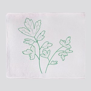 Parsley Herb Plant Throw Blanket