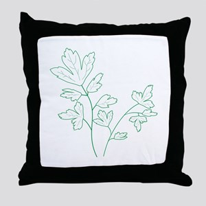 Parsley Herb Plant Throw Pillow