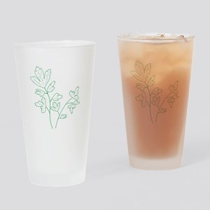 Parsley Herb Plant Drinking Glass