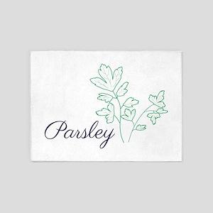 Parsley Plant 5'x7'Area Rug