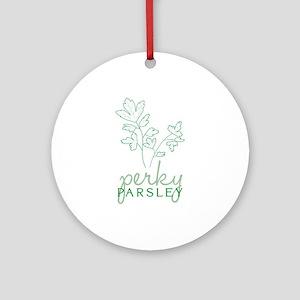 Perky Parsley Ornament (Round)
