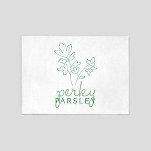Perky Parsley 5'x7'Area Rug