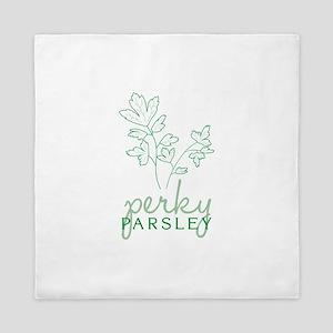 Perky Parsley Queen Duvet