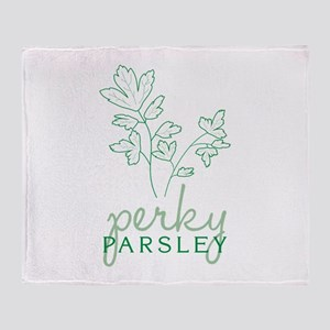 Perky Parsley Throw Blanket