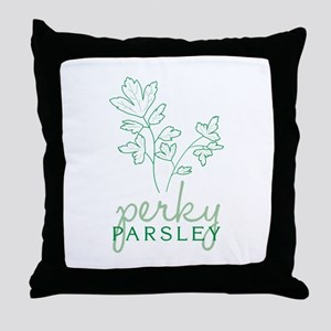 Perky Parsley Throw Pillow