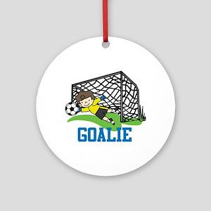 Goalie Ornament (Round)