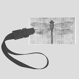 Vintage dragonfly Luggage Tag