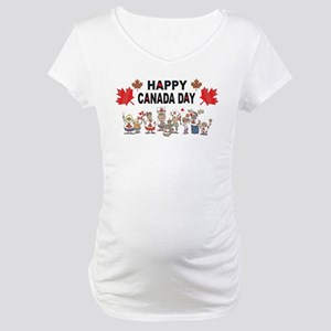Happy Canada Day Maternity T-Shirt
