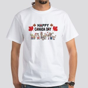 Happy Canada Day White T-Shirt