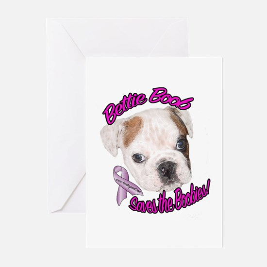 Bettie BoobTSaves the Boobies Greeting Cards (Pack
