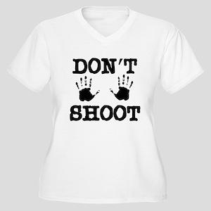 Don't Shoot! Women's Plus Size V-Neck T-Shirt