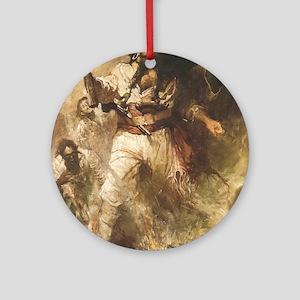 Blackbeard the Pirate Ornament (Round)
