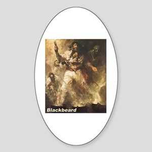 Blackbeard the Pirate Oval Sticker