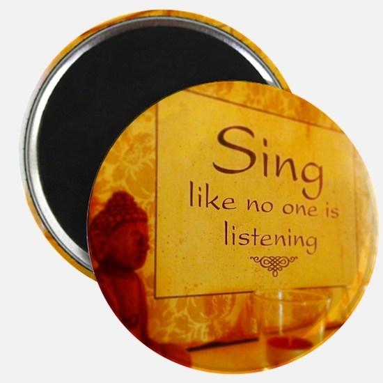 Sing Buddha  Magnet