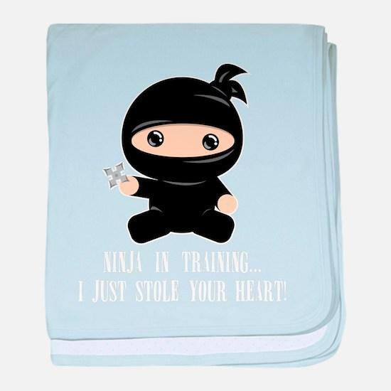 Cute Ninja baby blanket