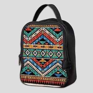 Vintage Aztec Pattern Neoprene Lunch Bag