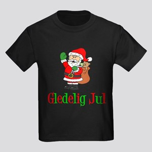 Gledelig Jul Santa T-Shirt