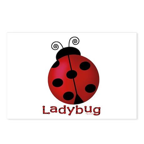 Cute Ladybug Postcards (Package of 8)