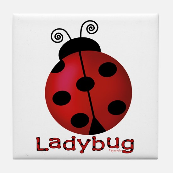 Cute Ladybug Tile Coaster