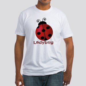 Cute Ladybug Fitted T-Shirt