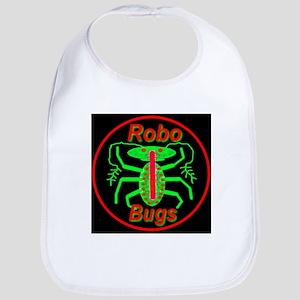 Alien Green Robo Bugs Bib