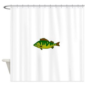 Sea Bass Shower Curtains