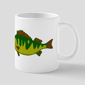 Green Bass Fish Mugs