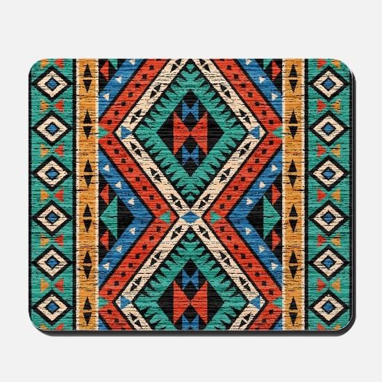 Vintage Tribal Pattern Mousepad