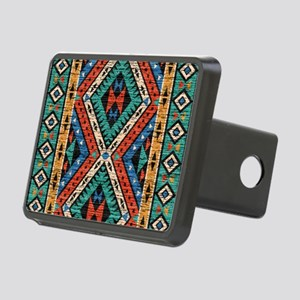 Vintage Tribal Pattern Rectangular Hitch Cover