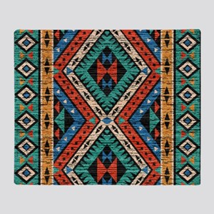 Vintage Tribal Pattern Throw Blanket