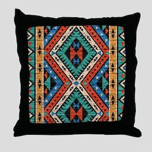 Vintage Tribal Pattern Throw Pillow