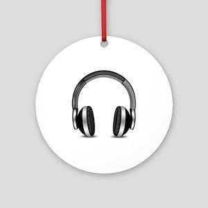 Earmuffs Earphone Headphone Ornament (Round)