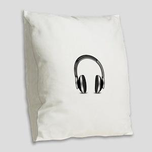 Earmuffs Earphone Headphone Burlap Throw Pillow