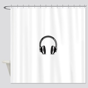 Earmuffs Earphone Headphone Shower Curtain