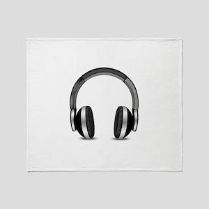 Earmuffs Earphone Headphone Throw Blanket