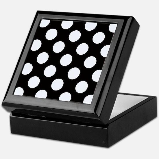 Black and white polkadots Keepsake Box