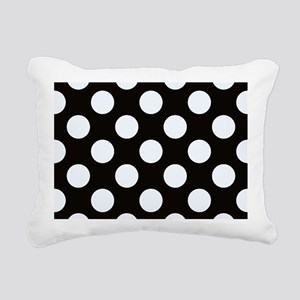 Black and white polkadots Rectangular Canvas Pillo