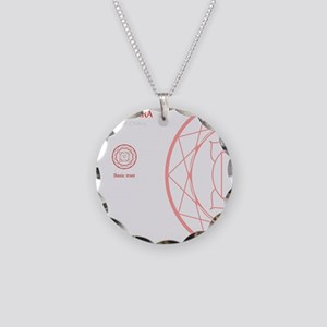 oct Necklace Circle Charm