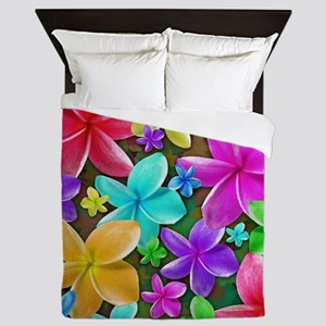 Plumerias Flowers Dream Queen Duvet