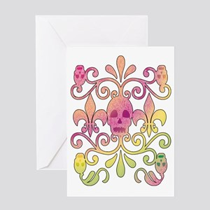 """skulls"" sports Greeting Card"