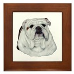 Proud English Bulldog Framed Tile