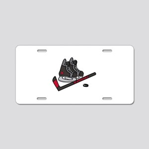 Hockey Skates Aluminum License Plate